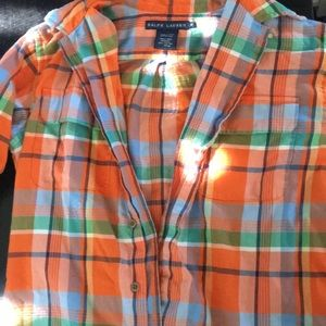 Ralph Lauren multi color button up